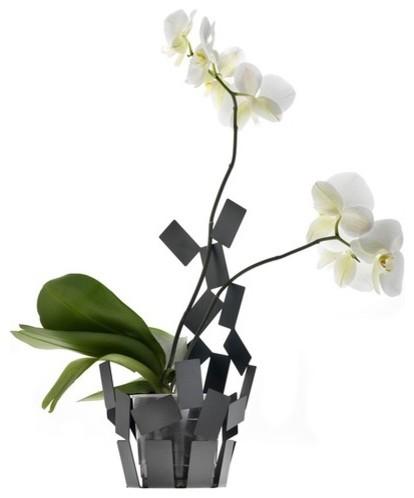 Stanza Scirocco Vase Cover in Black modern-vases