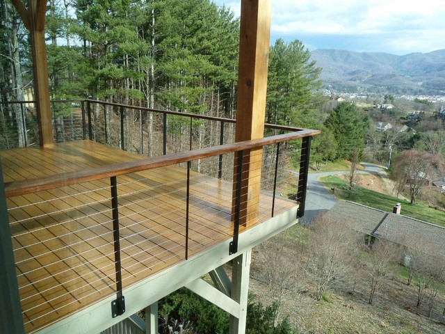 The Ithaca Style Cable Railing Contemporary Outdoor