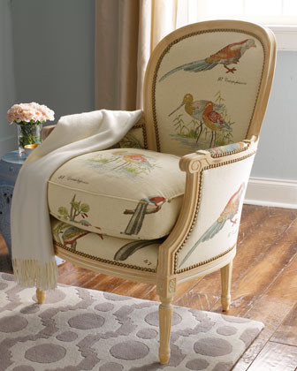 "Old Hickory Tannery - ""Blue Bird"" Chair  traditional-armchairs-and-accent-chairs"
