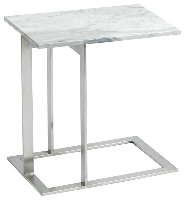 Dell Side Table White Brown Modern Tables And