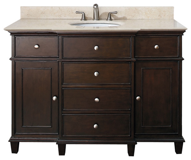 Classic Bathroom Vanities  Walnut Finish traditional bathroom vanities and sink consoles