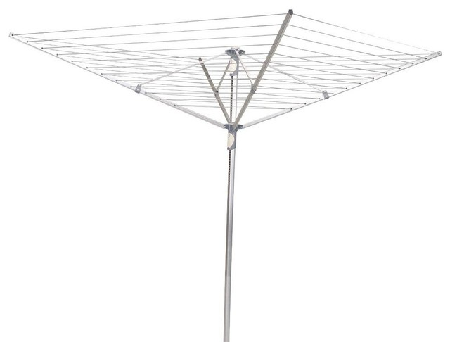 Household Essentials Clothes Drying Lines Umbrella Dryer Aluminum 2-Piece Pole - Contemporary ...