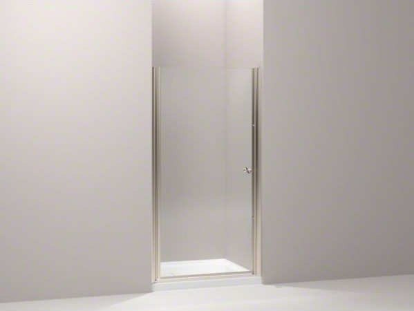 "KOHLER Fluence(R) pivot shower door, 65-1/2"" H x 37-1/2 - 39"" W, with 1/4"" thick contemporary-showers"