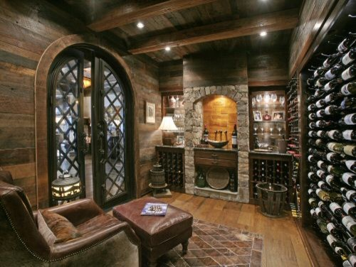 Wild turkey lodge wine cellar eclectic wine cellar for Wine cellars designs