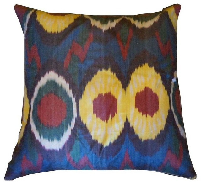 Pre-owned Ikat Antique Reproduction Pillow eclectic-decorative-pillows