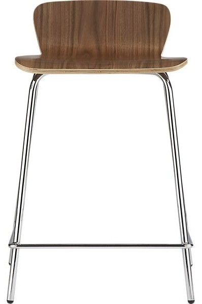 Felix 24 Inch Walnut Counter Stool Contemporary Bar