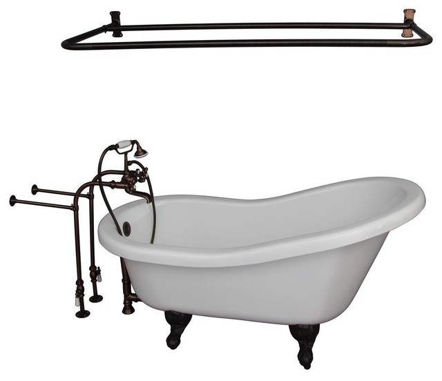 Barclay Products Bathtubs 5 6 Ft Acrylic Ball And Claw Foot Slipper Tub In