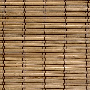 Blinds.com Brand Woven Wood Sliding Panels in Tiki Carbon asian-vertical-blinds