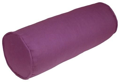 Pillow Decor - Tuscany Linen Purple 7 x 20 Bolster Pillow contemporary-decorative-pillows