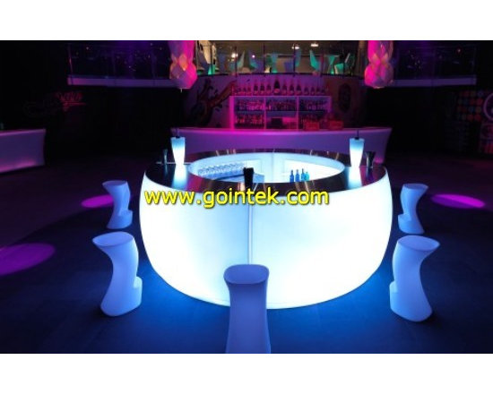 glowing led colorful bar counter with battery -