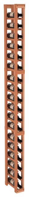 1 Column Split Bottle Wine Cellar Kit in Redwood contemporary-wine-racks