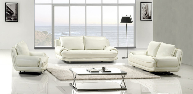 modern white leather sofa couch loveseat chair tufted
