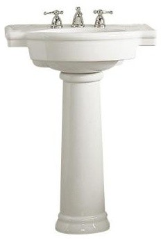... Pedestal Sink Combo in White Home Depot contemporary bathroom sinks