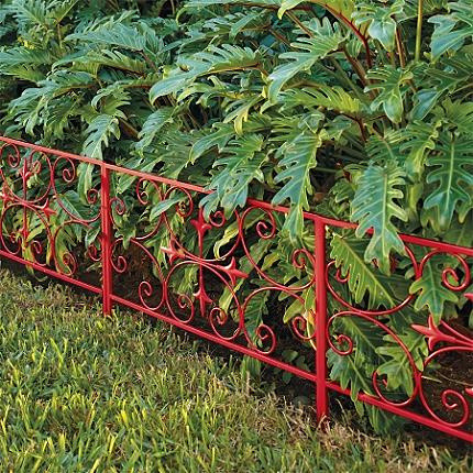 Substantial Scroll Garden Edging traditional-home-fencing-and-gates