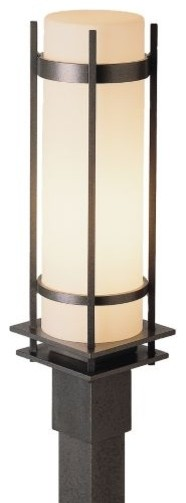 Banded Aluminum Outdoor Post Mount contemporary-outdoor-lighting