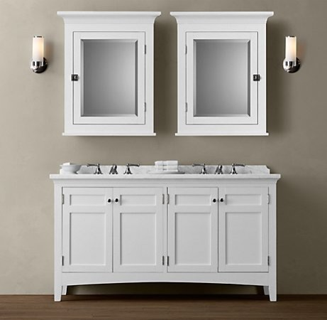 Bathroom Vanity Hardware restoration hardware bath vanity maison single vanity sink. found