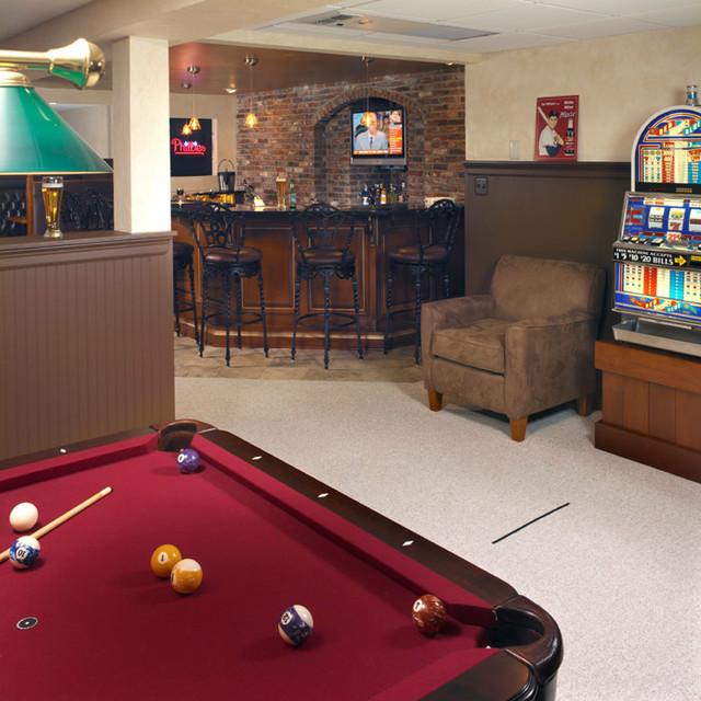 sports basement traditional home bar philadelphia