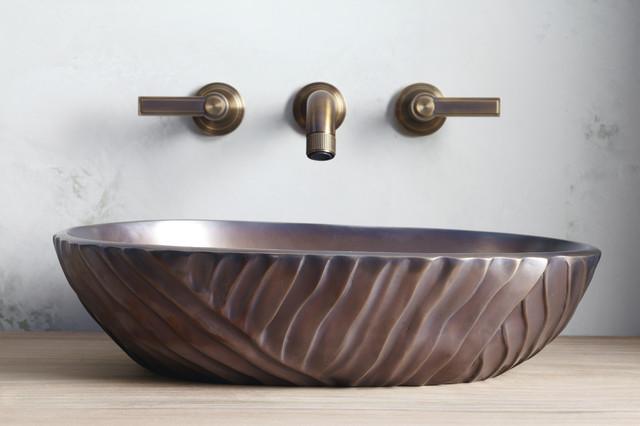 Qing Liu Decorative Vessel by Robert Kuo contemporary-bathroom-sinks