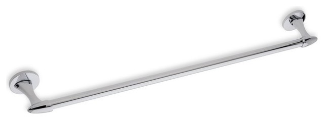 23 Inch Wall Mounted Chrome Towel Bar by StilHaus contemporary-towel-bars-and-hooks