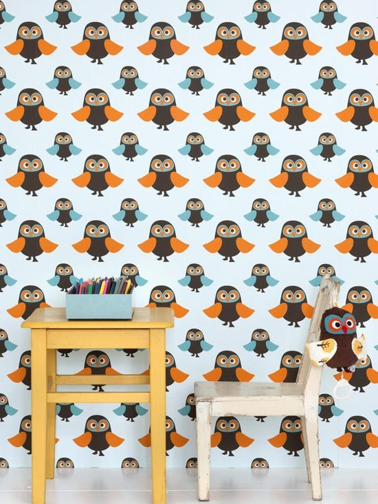 Ferm Living Owls Wallpaper - Ferm Living's Wallpaper is graphic & whimsical adding character, charm and personality to any room. Wallpaper has a striking effect and will without a doubt turn your room into a sanctuary.