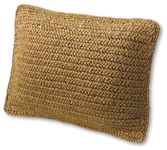 "12"" x 16"" Natural Fiber Decorative Pillow Cover tropical-decorative-pillows"
