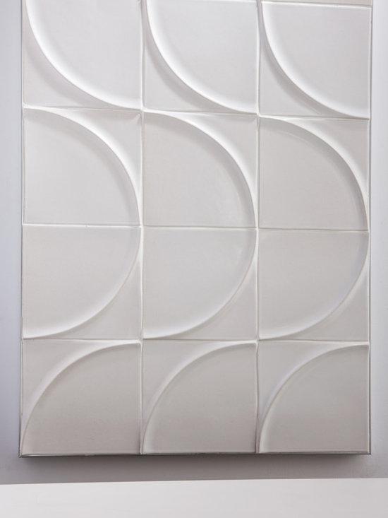 "Ceramic - ANN SACKS Modern 8"" x 8"" moon ceramic field in cotton"