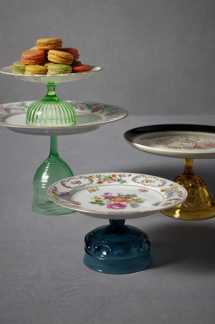 Vintage Treat Pedestals eclectic-serveware