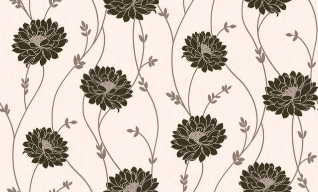 Tilly black cream wallpaper by wallpaperdirect for Black and cream wallpaper