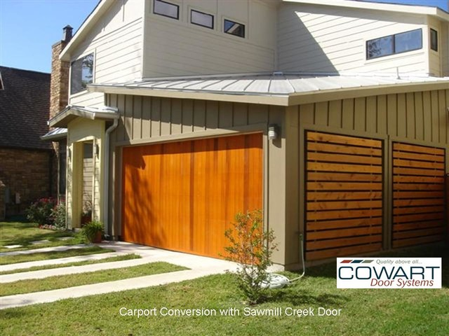 Texas Cowart Door Carport Conversion Modern Garage