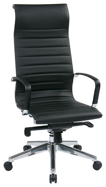 OSP Furniture Hospitality 73603 High Back Black Eco Leather Chair contemporary-office-chairs