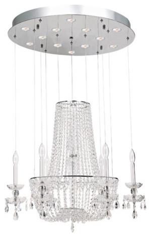 La Boheme Ten-Light Chrome Chandelier contemporary-chandeliers