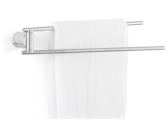 Blomus - Duo Towel Rail, Polished - Stainless steel. Mounting kit included. Available with a matte or a polished finish.