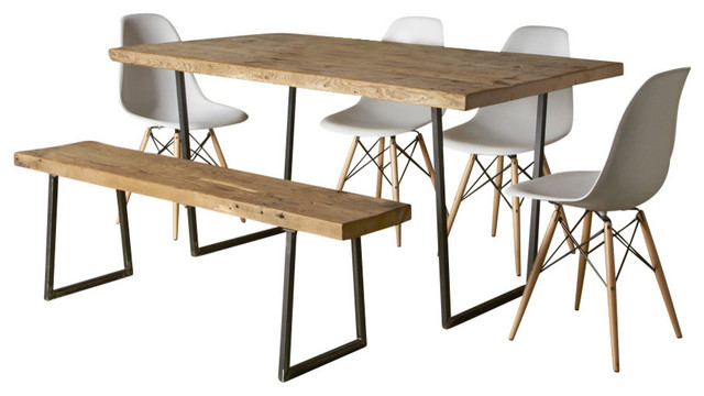 Brooklyn modern rustic reclaimed wood dining table thick for Dining room table 60 x 36