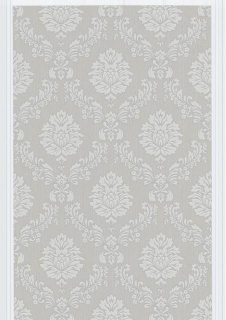 Costello Wallpaper Swatch - Gray/White contemporary-wallpaper