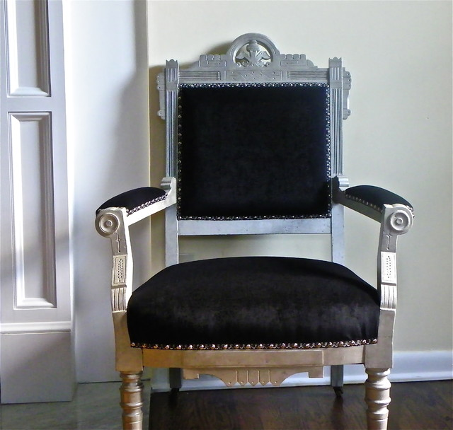 Black Eastlake Parlor Chair - Traditional - Armchairs And Accent ...