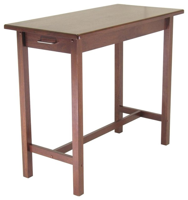kitchen island pub table w 2 drawers in espre contemporary bar tables