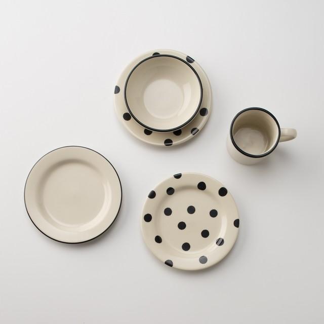 Black Dot Dessert Plate modern-dinner-plates