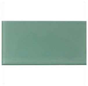 3x6 Sage Green Glass Subway Tile Mosaic contemporary-wall-and-floor-tile