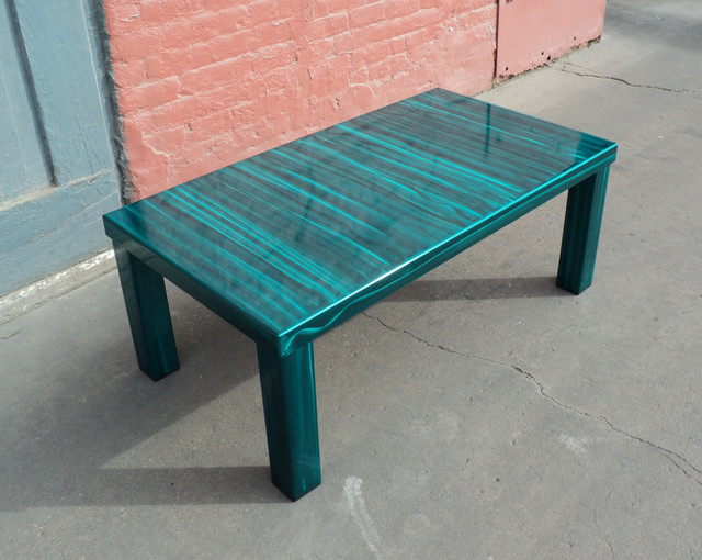 Contemporary Teal Coffee Table Coffee Tables Denver By Coresthetic