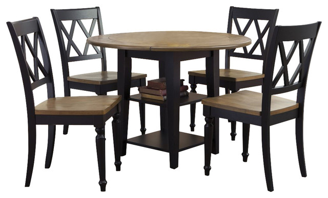 Liberty furniture al fresco ii 5 piece 42 inch round drop for Dining room tables 42 round