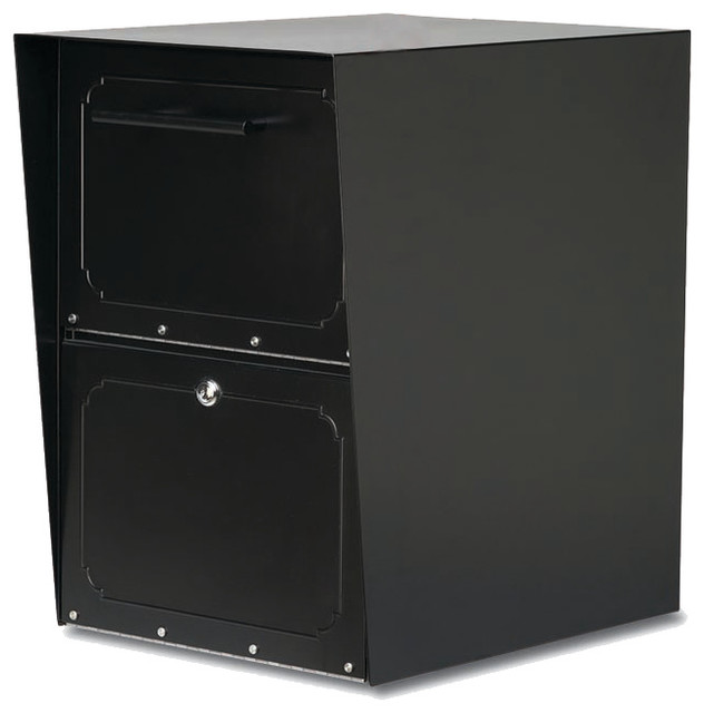 Oasis Locking Post Mount Drop Box Black - Traditional - Mailboxes - by ...