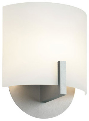 Scudo Satin Silver One-Light Wall Sconce contemporary-wall-lighting