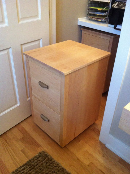 Past Projects - custom maple file cabinet on castors