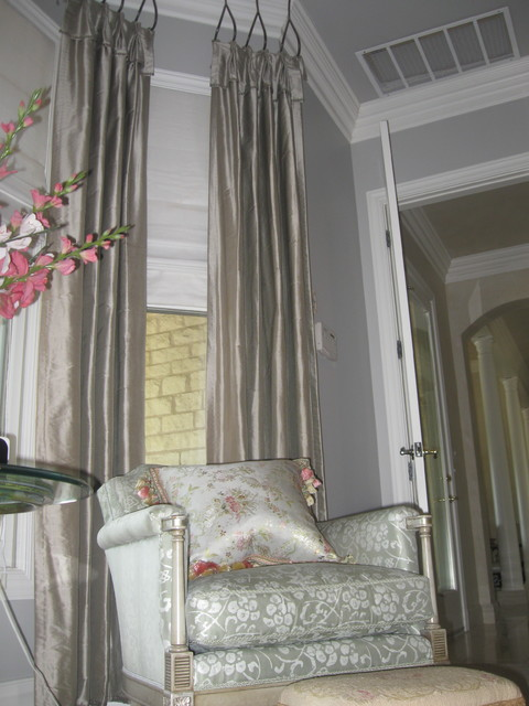 Formal Residence with hint of France traditional-bedroom
