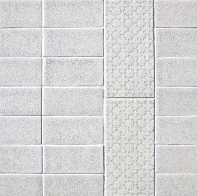 Scraffito pattern d 5x10 modern tile portland by for Bathroom ideas 5x10