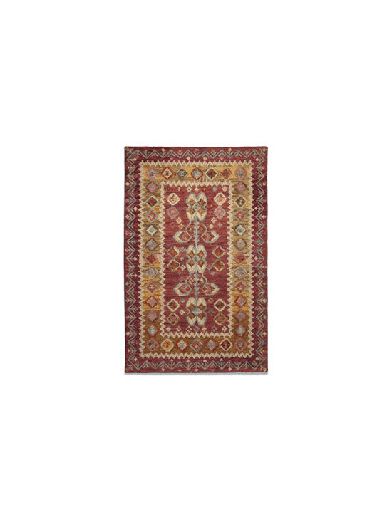 Grandin Road - Austin Indoor Area Rug - Antiqued indoor area rug with colorations of deep red, gold, and neutral tones. Skillfully hand-hooked of naturally durable wool. Expertly tip-sheared for added texture and dimension. Nonslip Rug Grips sold separately. When you choose to enhance the beauty of your home with our antiqued Austin Indoor Area Rug, you'll enjoy all the marvelous character of a rare heirloom find from the very first day. The secret is a proprietary washing process that creates the instantly rich, time-honored look and feel.  .  .  .  . Imported.
