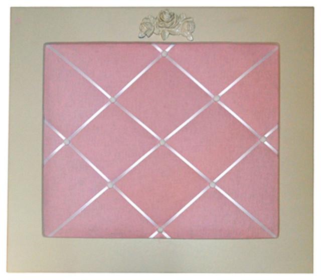 Bella Rose Memo Board in Pink Linen Modern Desk