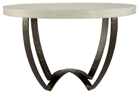 Sleek Marble Top Coffee Table Wisteria contemporary-coffee-tables