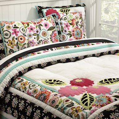 Seraphina Patchwork Quilt & Sham tropical-kids-bedding
