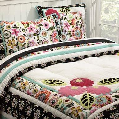 Seraphina Patchwork Quilt & Sham tropical-kids-bedding